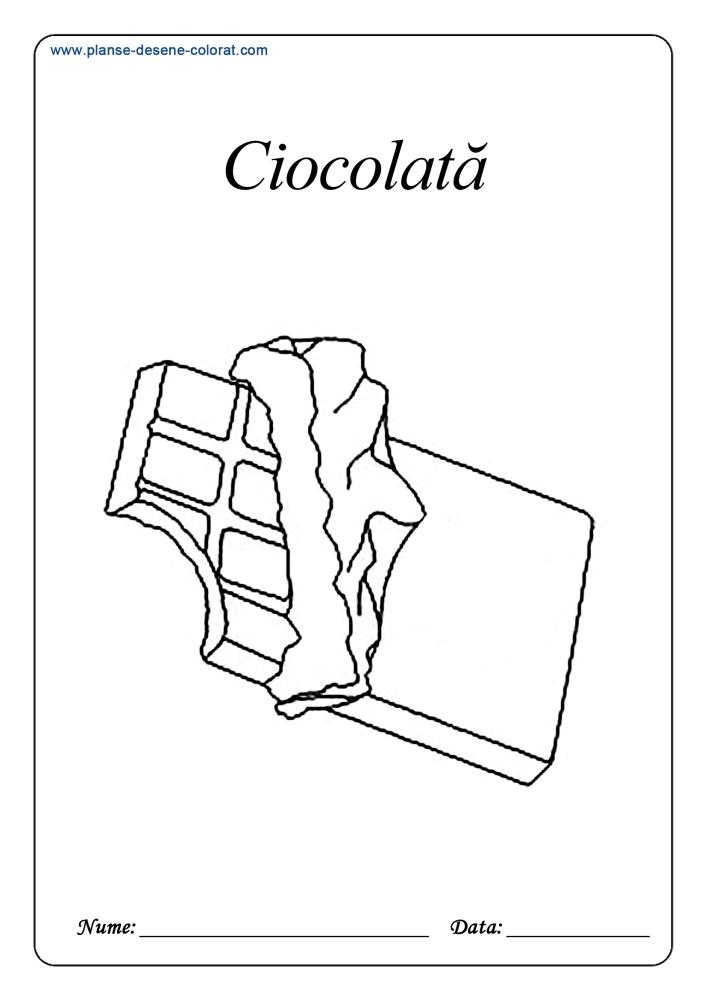 Planse De Colorat Cu Dulciuri Inghetata Pe Bat