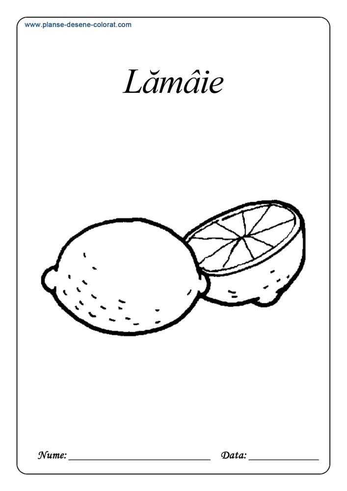 Planse De Colorat Cu Fructe Lamaie