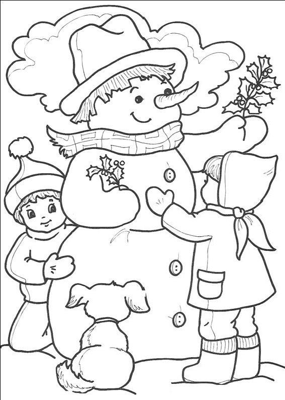 Imagini De Colorat Jocurile Copiilor Iarna Idea Gallery