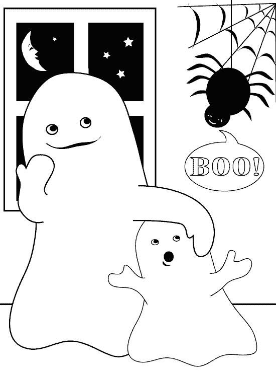 Planse De Colorat Cu Halloween