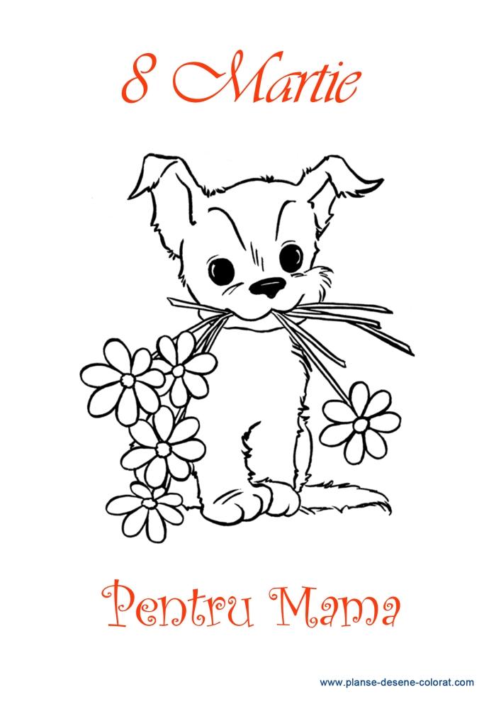 Desene De Colorat De Ziua Mamei Buchet Flori
