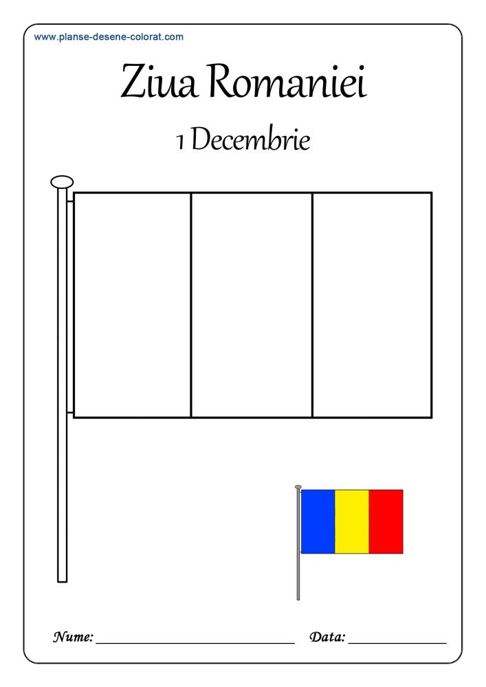 Planse De Colorat De Ziua Romaniei 1 Decembrie