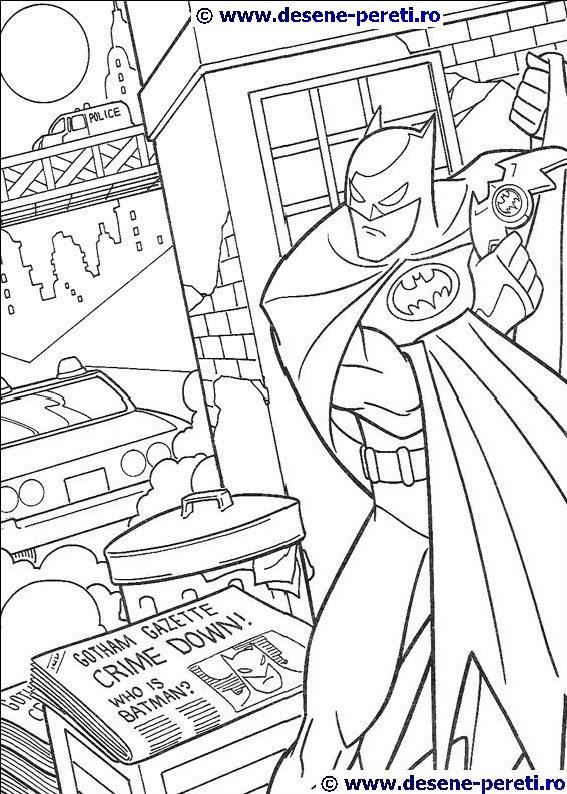 Batman Planse De Colorat