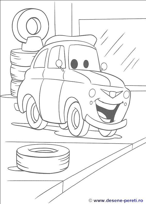Cars   Masini   Planse De Colorat