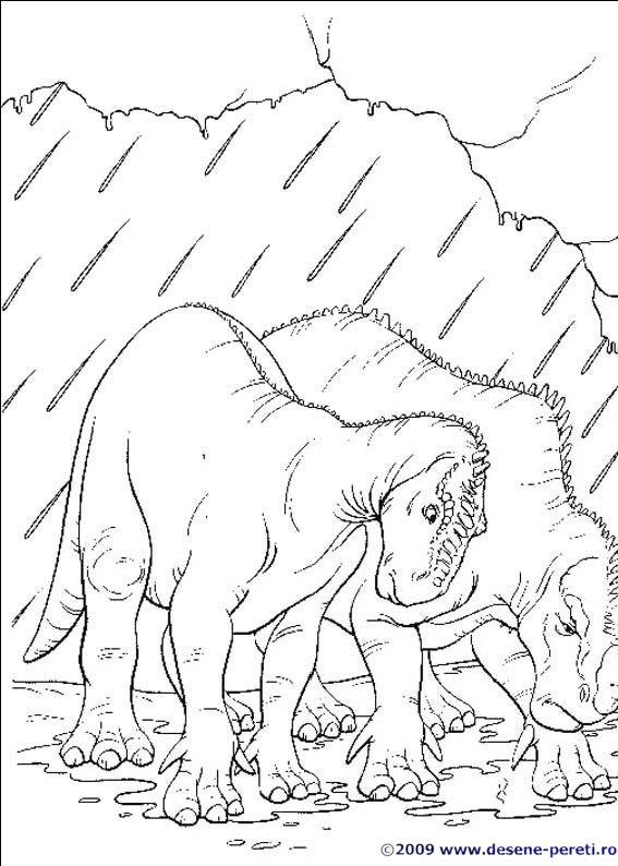 Dinozaurii PLANSE DE COLORAT