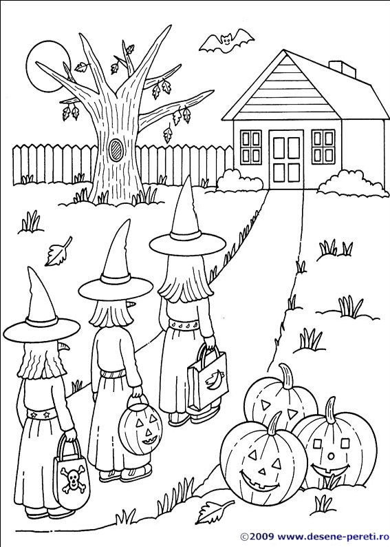 Halloween Planse De Colorat