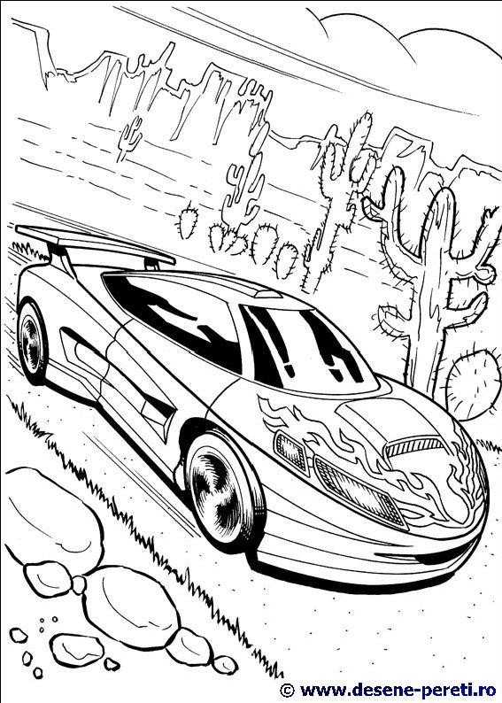 Hot Wheels Planse De Colorat