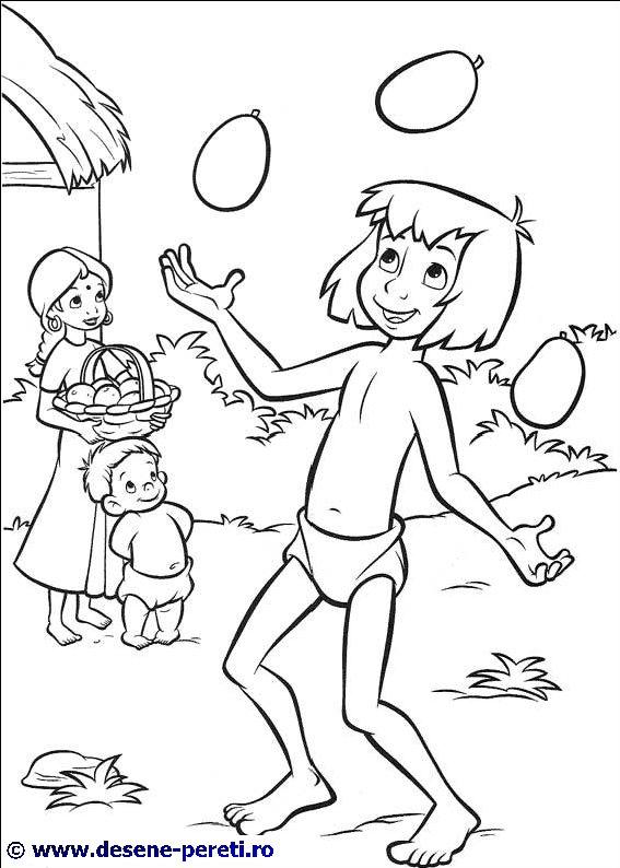 Jungle book 2 cartea junglei planse de colorat for Jungle book 2 coloring pages