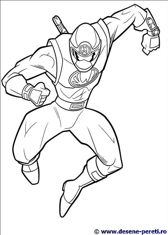 Power Rangers DESENE DE PRINTAT