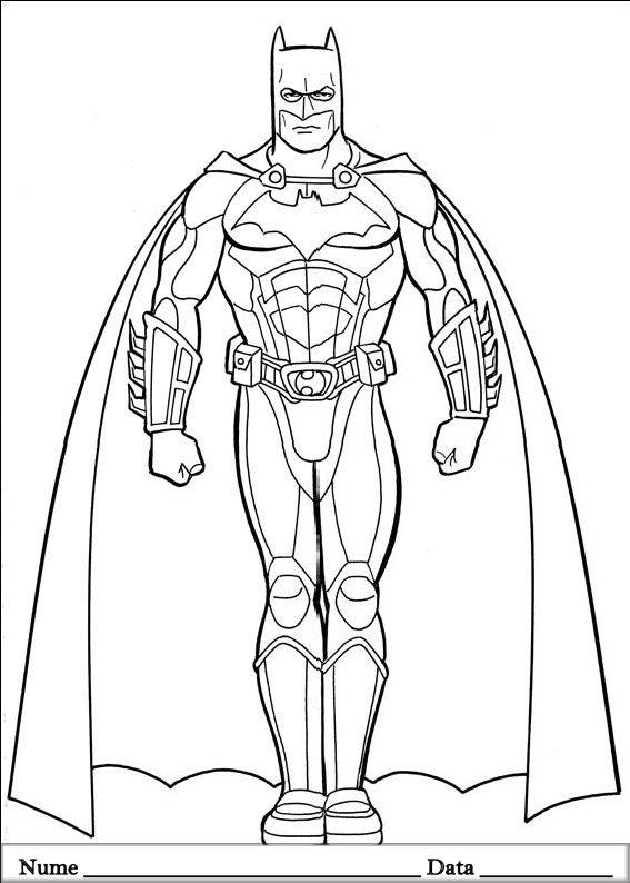 Batman 182 Planse De Colorat Si Educative