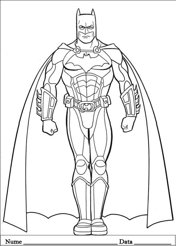 Batman Planse De Colorat Si Educative