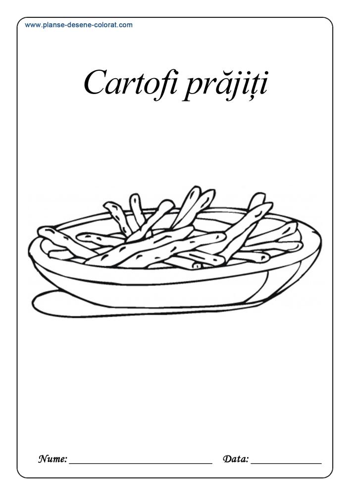 Desene de colorat cu alimente 8