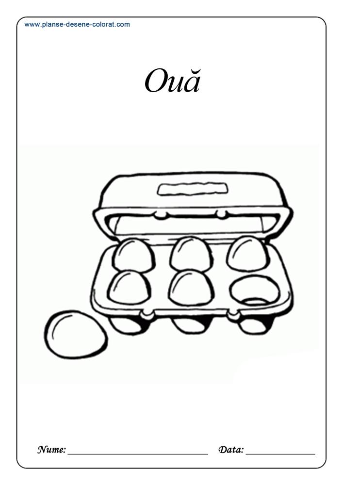 Desene de colorat cu alimente 9