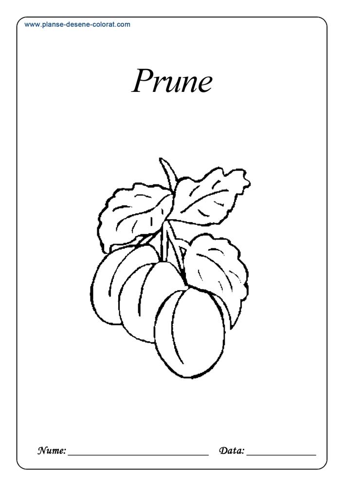 Desene de colorat cu fructe 10
