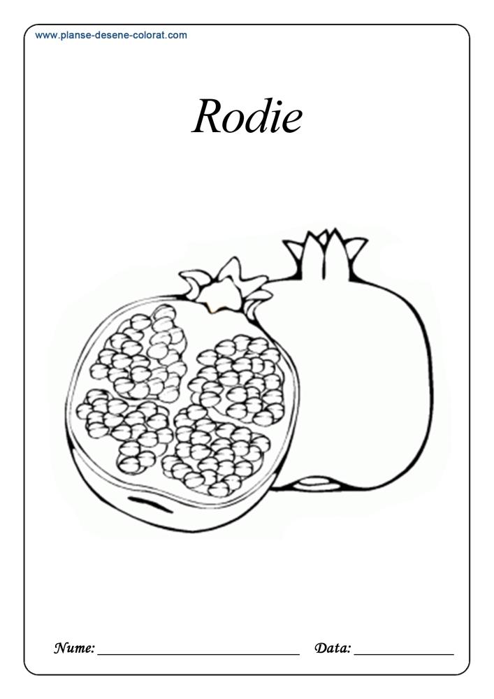 Desene de colorat cu fructe 21