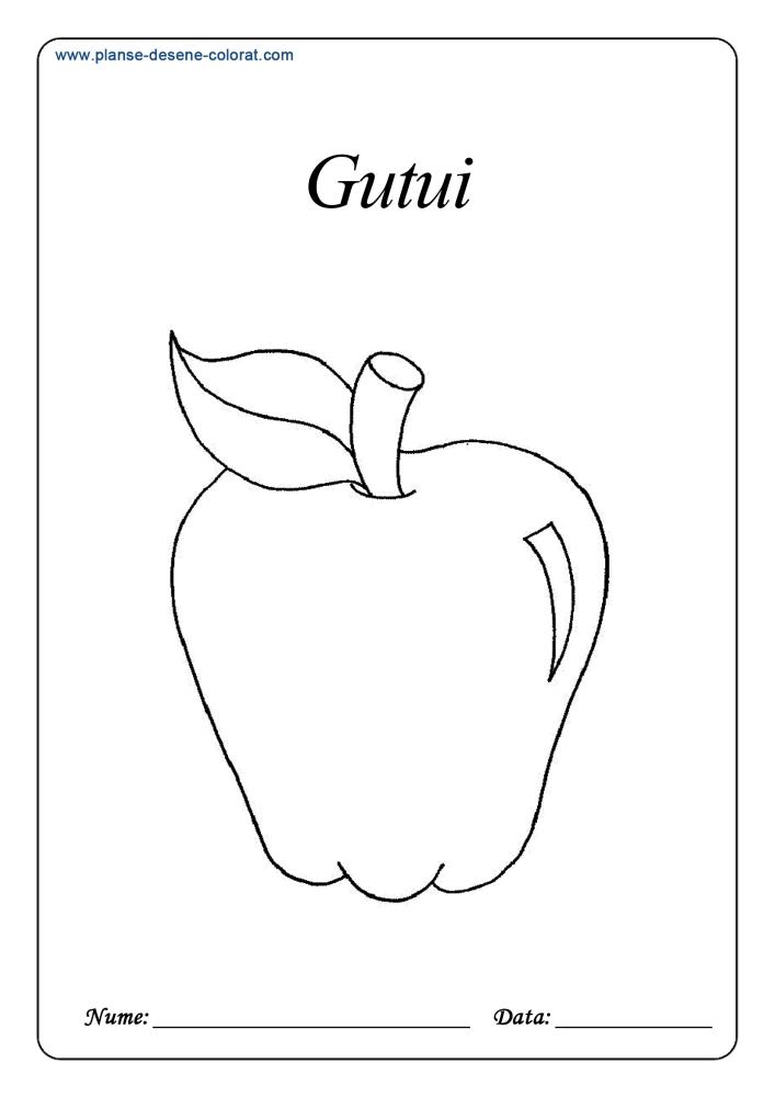 Desene de colorat cu fructe 24