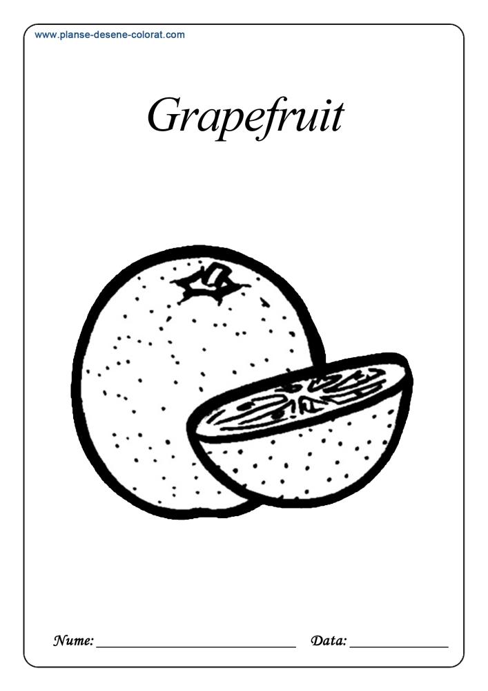 Desene de colorat cu fructe 25