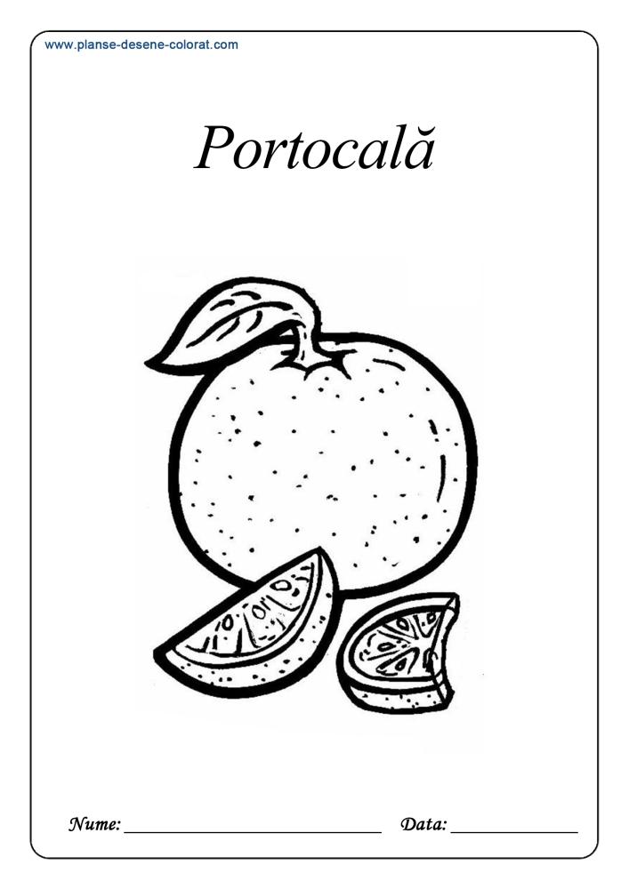 Desene de colorat cu fructe 3