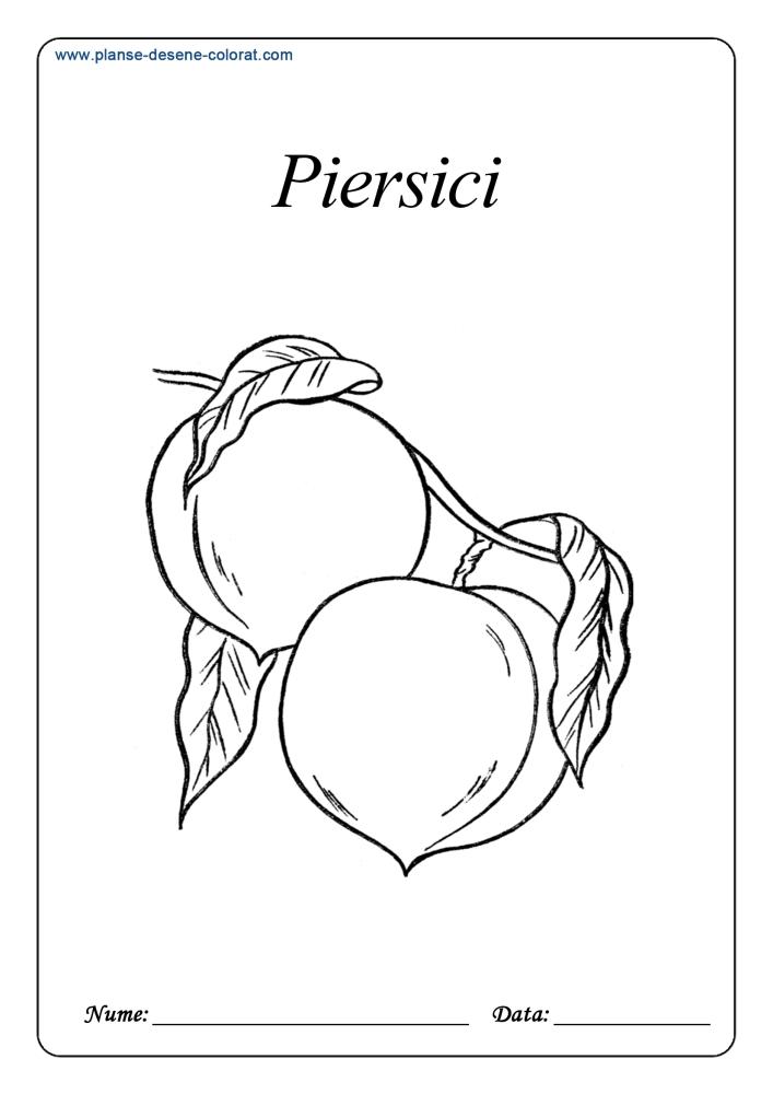 Desene de colorat cu fructe 9
