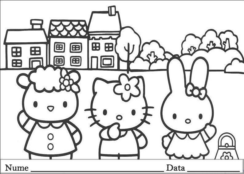 Hello Kitty Planse De Colorat Si Educative