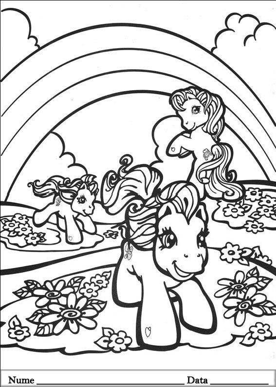 My Little Pony Planse De Colorat Si Educative