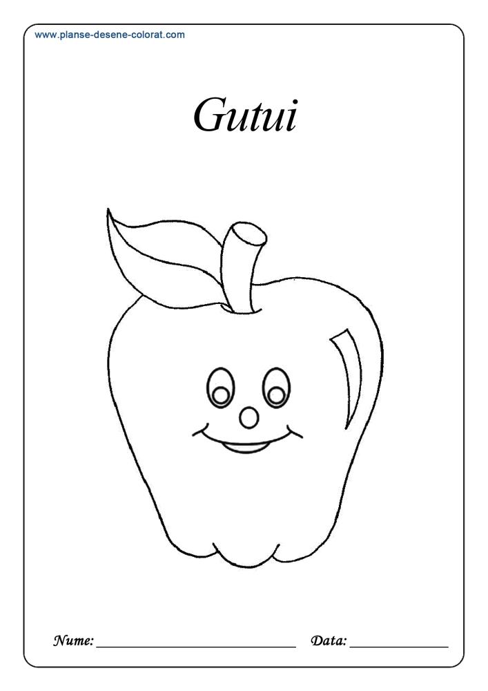 Fructe Planse De Colorat Si Educative