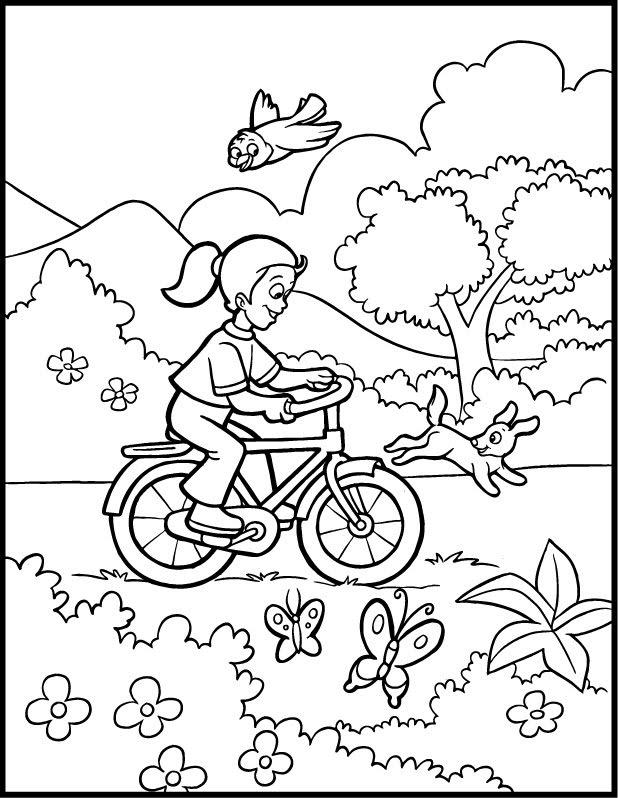 Planse desene de colorat primavara 7
