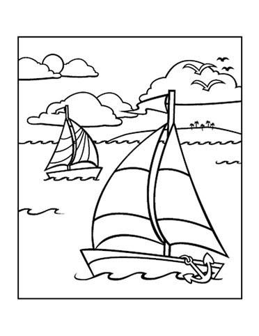 Planse desene de colorat vara 8