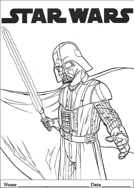 Kleurplaat Darth Vader Praat Zoals Darth Vader Met De Star