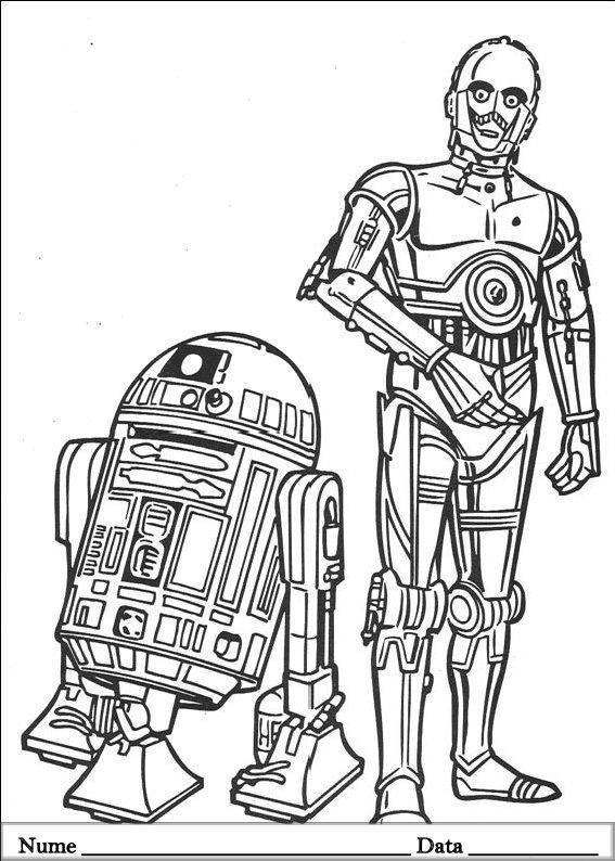 Star Wars Planse De Colorat Si Educative