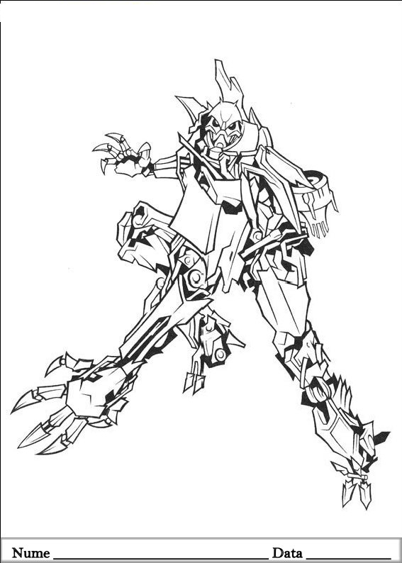 Transformers Planse de colorat si educative