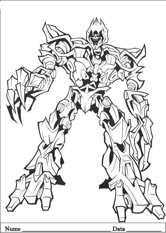 Transformers Planse de colorat