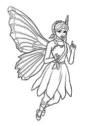 desene de colorat barbie mariposa