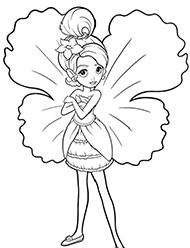 Barbie Zana Padurii Planse De Colorat Si Educative