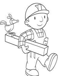 desene de colorat bob constructorul