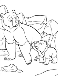 desene de colorat brother bear