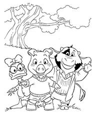 desene de colorat cei trei purcelusi
