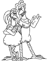 desene de colorat chicken run