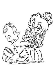 desene de colorat chipmunks