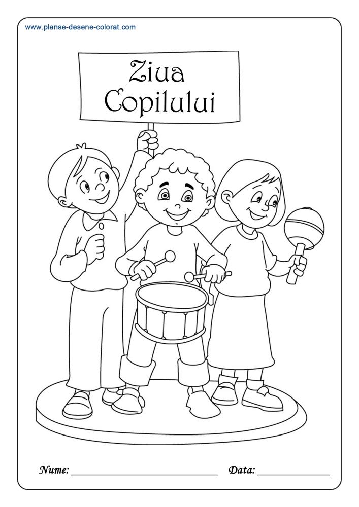 Ziua Copilului Planse De Colorat Si Educative
