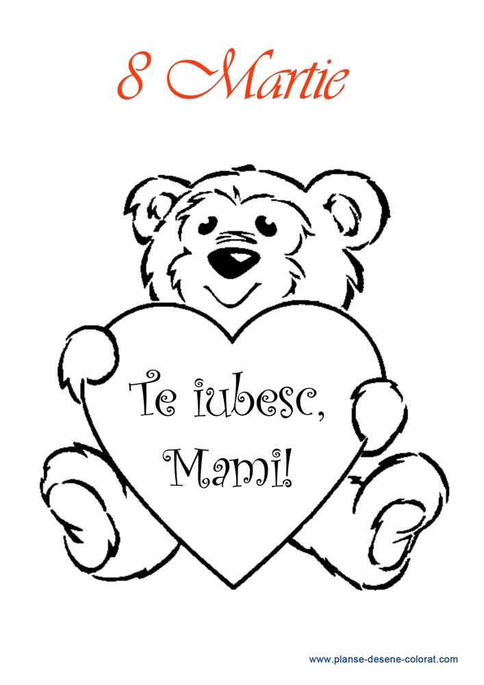 desene de colorat de ziua mamei 1