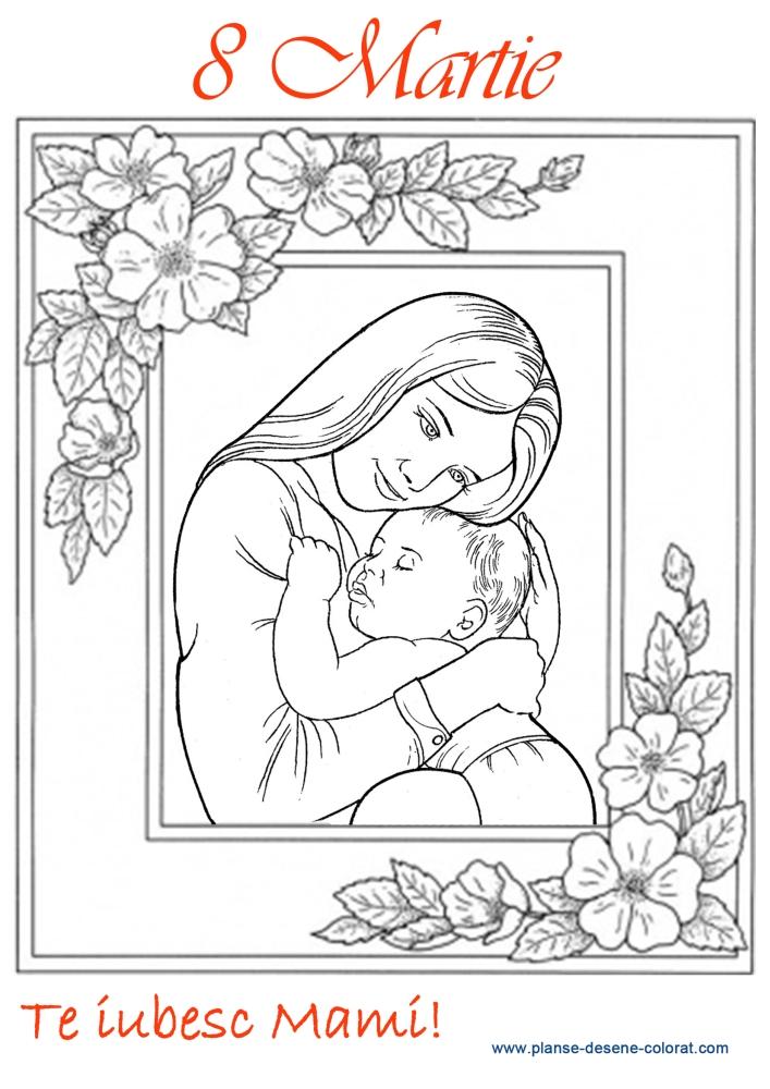 desene de colorat de ziua mamei 12