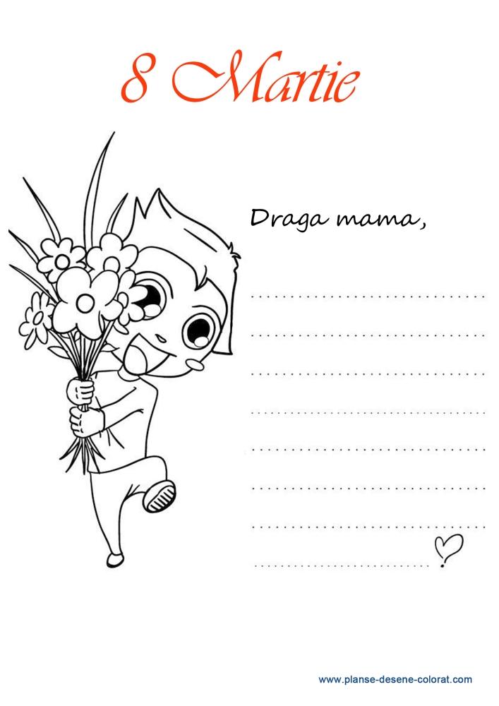 desene de colorat de ziua mamei 14