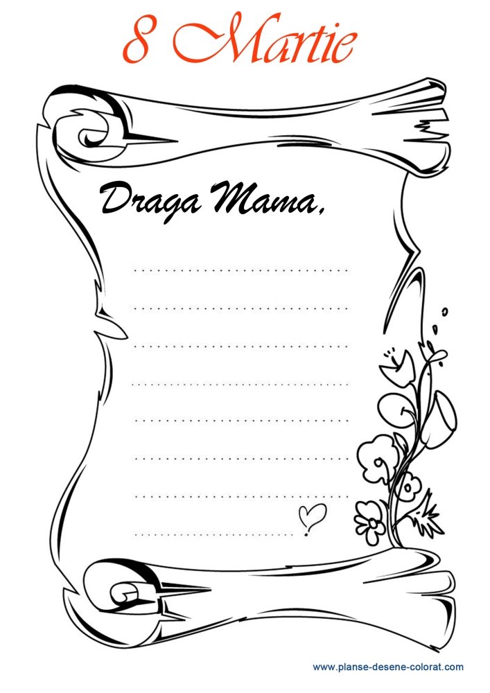 desene de colorat de ziua mamei 15