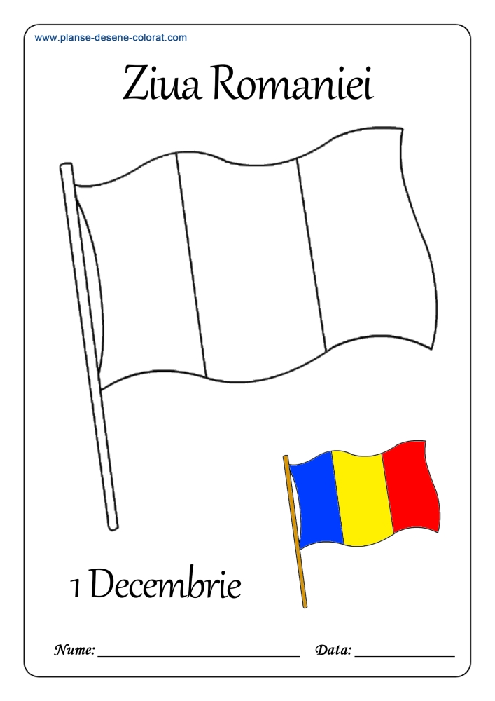 desene de colorat de ziua romaniei 1