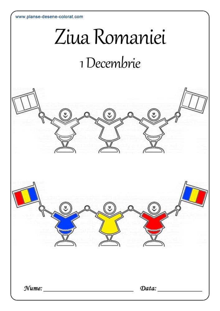 desene de colorat de ziua romaniei 2