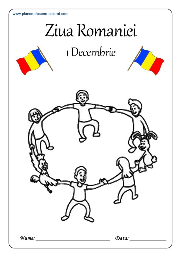 desene de colorat de ziua romaniei 6