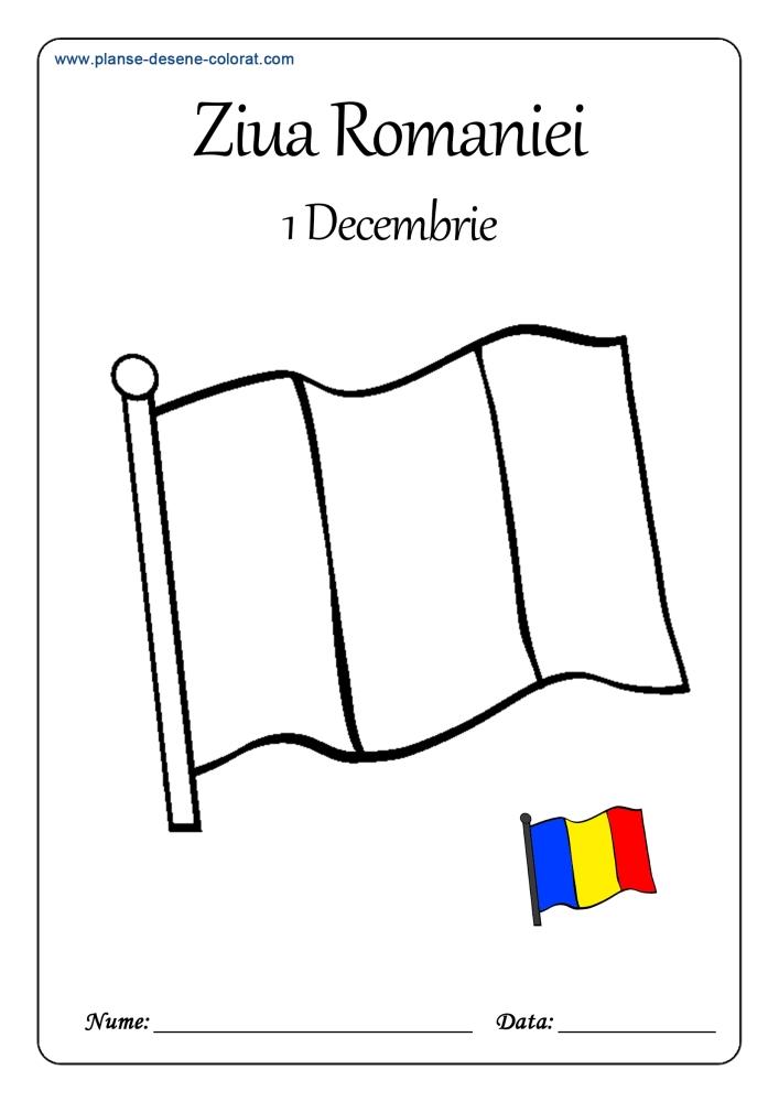 desene de colorat de ziua romaniei 7