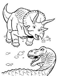 desene de colorat dinozauri