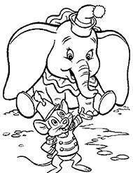 desene de colorat dumbo